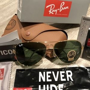 Ray Ban Aviator Classic RB3025 Green/Gold 62 or 58